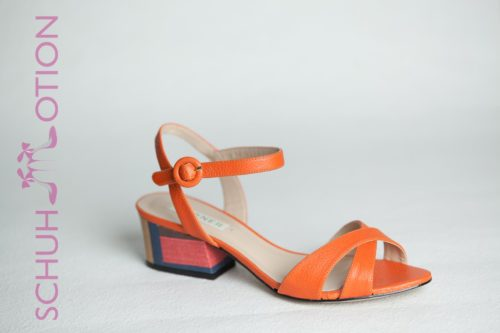 Sandale mit Block Orange