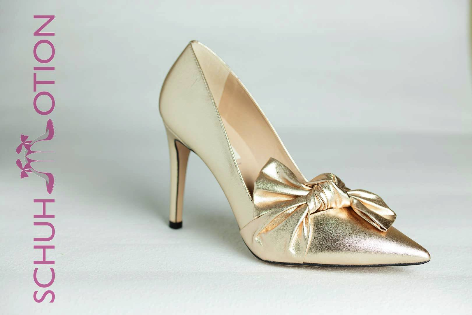 54d283f721b663 Pumps mit Masche champagne – Schuhmotion – www.schuhmotion.at