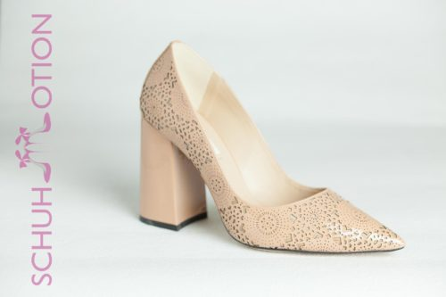 Pumps Stanzmuster rose 1