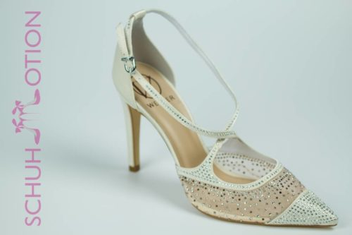 Schuhmotion Satinpumps ivory 1